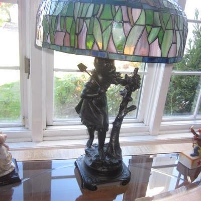 Tiffany Style Bronze Lamp