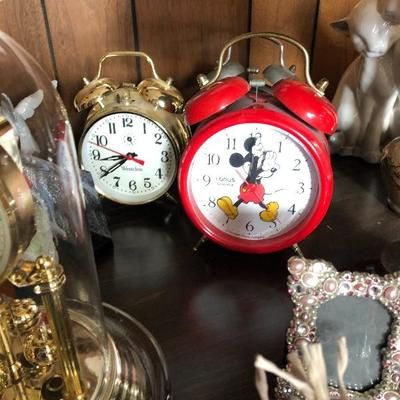 Alarm clocks (mickey, westclox, etc)
