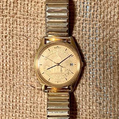 United States Naval Academy man's wrist watch