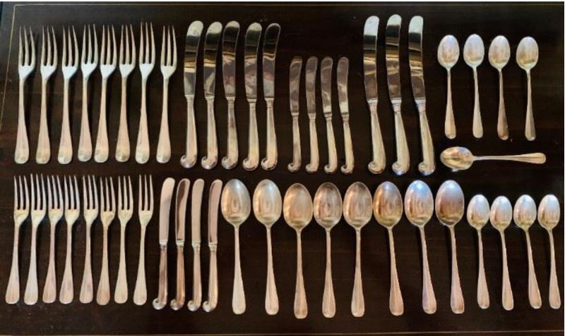 Williamsburg Queen Anne sterling silver flatware by Stieff