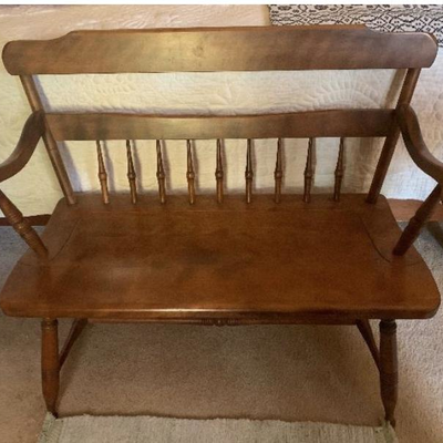 Primitive Colonial cherry bench