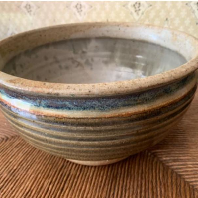 Art studio pottery bowl signed by artist