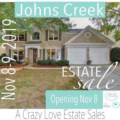 Johns Creek Estate Sale, Nov 8-9 by Ashley Glass & A Crazy Love Estate Sale