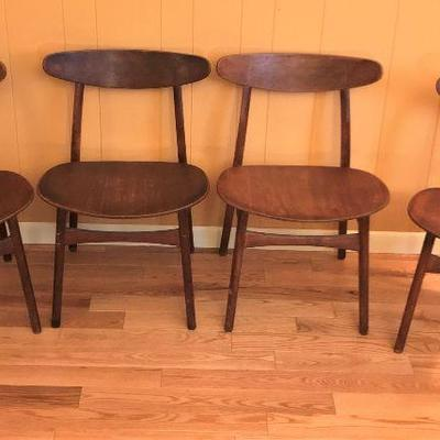 Hans J. Wegner designed chairs made by Carl Hansen & Son. Denmark. True Danish mid-century vintage chairs.