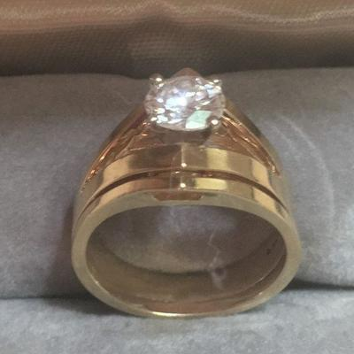 1ct Diamond,, 14K yellow gold band
