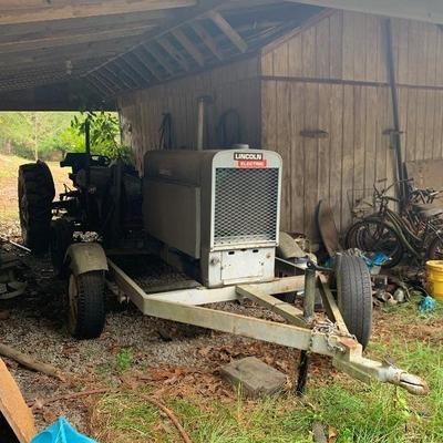 Lincoln SA-200 welder on trailer