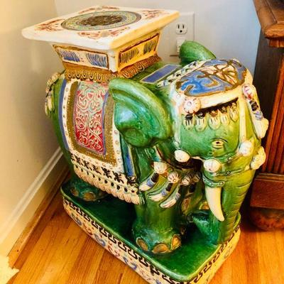 Large porcelain elephant stool from Vietnam