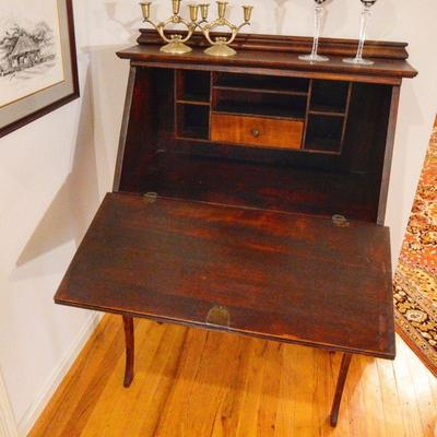 Vintage wooden secretary desk
