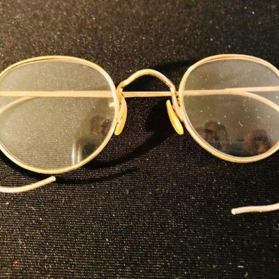 Antique Bausch & Lomb gold-filled spectacles w/certification