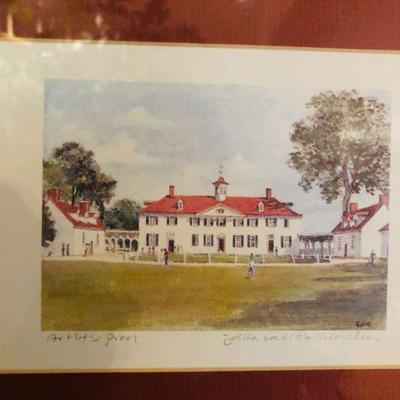 George Washington's Mount Vernon artwork, paintings, memorabilia, historical info.