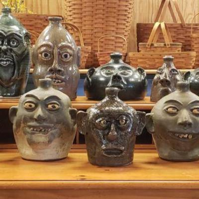 Southern pottery face jugs
