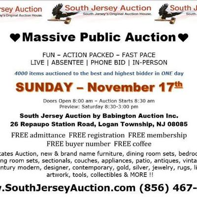 A FUN – ACTION – PACKED – AUCTION LIVE | ABSENTEE | PHONE BID | IN-PERSON Sunday – November 17, 2019 Doors Open 8:00 am – Auction Starts...