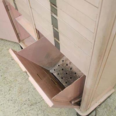 ANTIQUE Painted Pink Multi Drawer Dental Cabinet