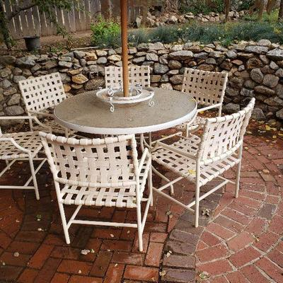 One of two nice patio sets