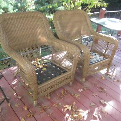 Brown Wicker with Cushions