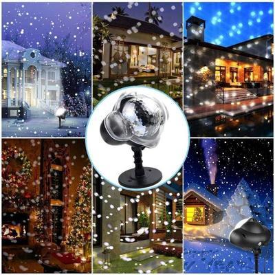 LED Projector Light Snow Falling Light Waterproof ...