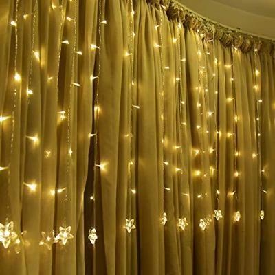 TOFU Star Curtain String Light, 100 LED Window Cur ...