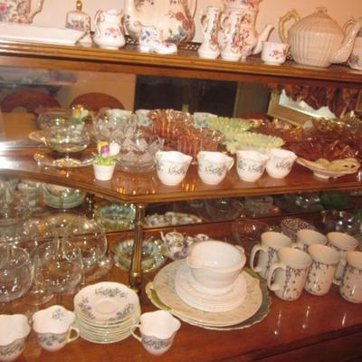 Tons ot Uncover! Hummel Collection Coleport Collection Depression Glass  Vintage Beleek