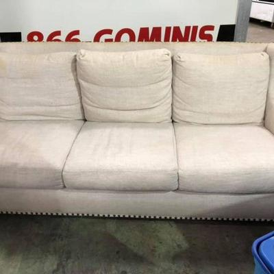 L72220: Sofa: Clothe on Wood Frame $125 OBO   - Only available offline at office