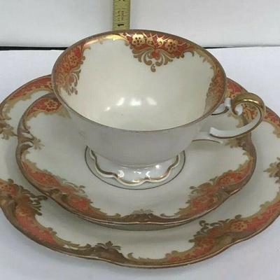 AH3010: Henseler Bavaria Cup and Saucer w/ Salad Plate Fine China Rust  https://www.ebay.com/itm/123952007898