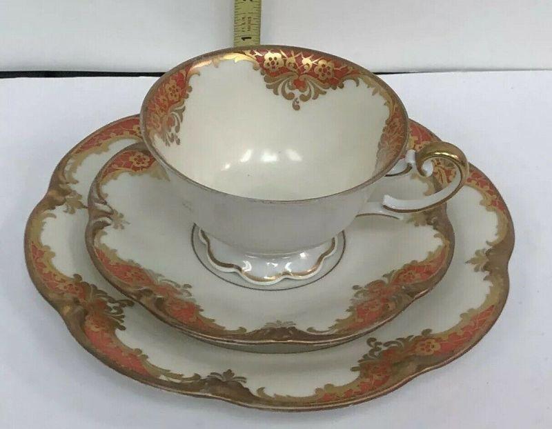 AH3010: Henseler Bavaria Cup and Saucer w/ Salad Plate Fine China Rust  https://www.ebay.com/itm/123952007898