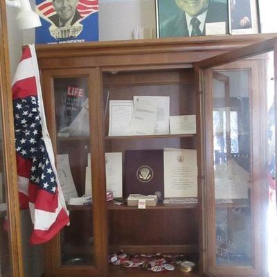 Special Bid Item: Nixon era and Republican ephemra and political memorabilia including NIXON NOW campaign suspenders, coasters, matches,...