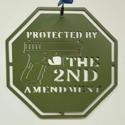 Protected by the 2nd Amendment Army Green Powder ...