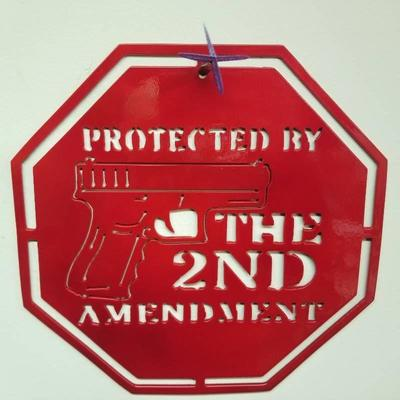 Protected by the 2nd Amendment Red Powder Coatin ...