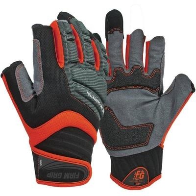 X-Large Gel Pro Carpenter Work Gloves, Black Gray  ...