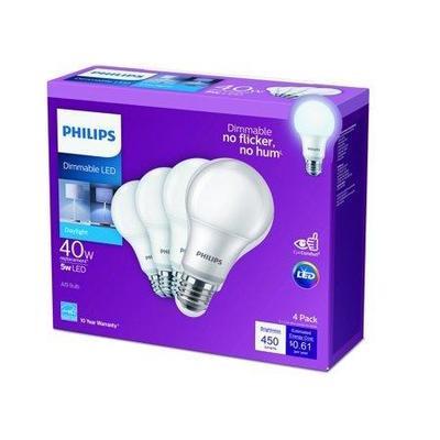 Philips 40-Watt Equivalent A19 Dimmable Energy Sav ...