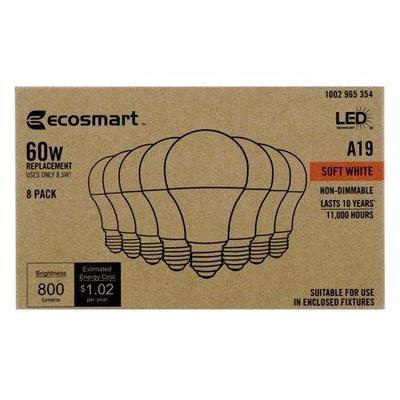 60-Watt Equivalent A19 Non-Dimmable CEC LED Light ...
