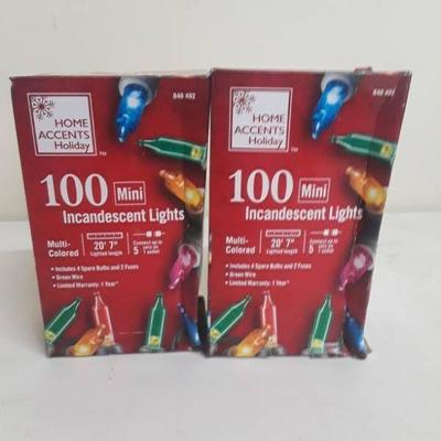 Home Accents Holiday - 100 Mini Lights Multi Color ...