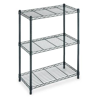 3-Shelf Steel Shelving Unit in Black