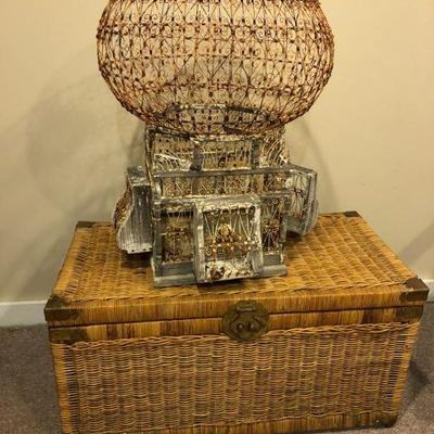 Wicker basket, large birdcage