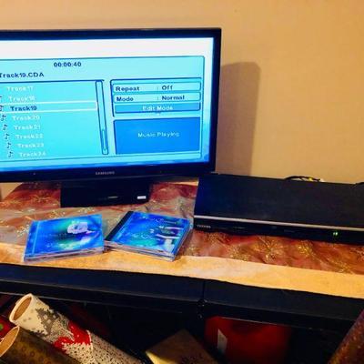Samsung TV/monitor, DVD player