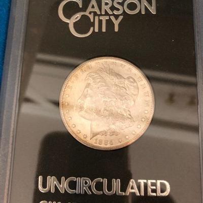 1884 Morgan City silver dollar