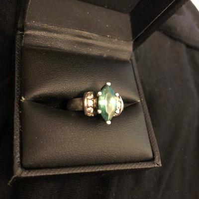 JewelryEmerald Marquis Cut inSterling size 7 - $30