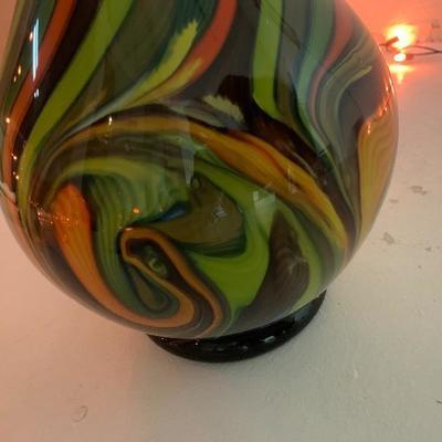 Vintage Murano Fratelli Toso Bottle Neck Vase excellent condition-$100