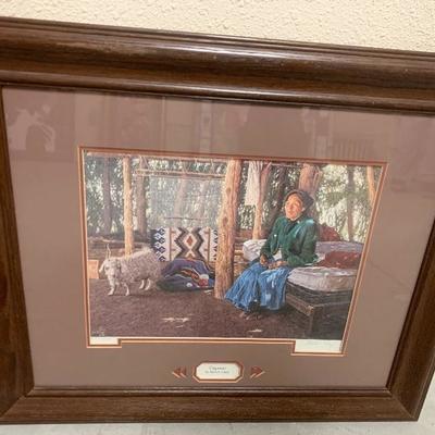 "Southwest Folk Art - Signed  Limited Edition Print Marvin Toddy "" Preparation"" $150"