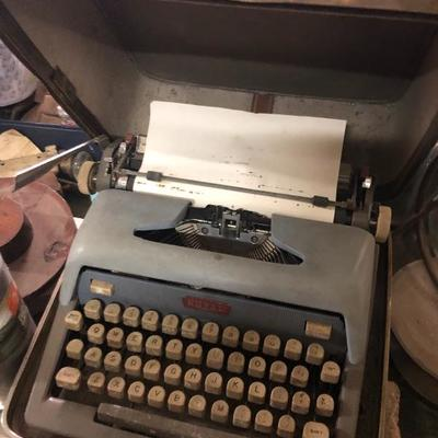 The typewriter of James V Thomson and the last thing he types on it