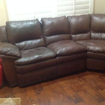 Sectional sofa with double recliner