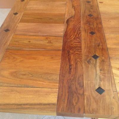 Beautiful custom table with 2 leaves