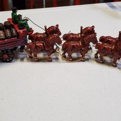 Cast Metal Toy Beer Wagon