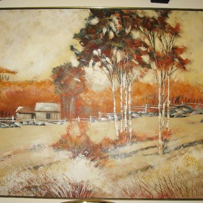 LEE REYNOLDS LARGE OIL PAINTING , 5' X 4'.  BUY IT NOW  $ 285.00