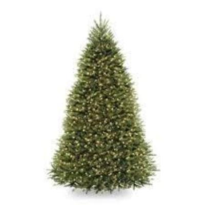 #National Tree Company 8-ft. Pre-lit Spruce Artific ...
