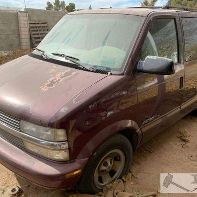 90-2001 Chevrolet Astro Van Year: 2001 Make: Chevrolet Model: Astro Vehicle Type: Van Mileage: {ENTER MILAGE HERE} Plate: {ENTER PLATE...