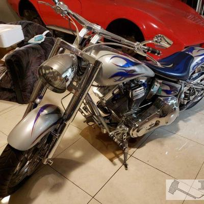 45:  Custom Build Chopper with S&S motor 2000 SPCNS is an Arlen Ness one off 200 pro-street chopper slammed softtail. A bar hopper for...