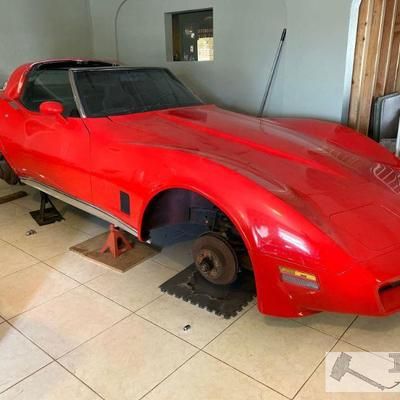 74: 1980 Chevrolet Corvette Coupe, Two-Door Hardtop VIN: 1Z87HAS421417 Car is being sold without Wheels. Has no motor or transmission....