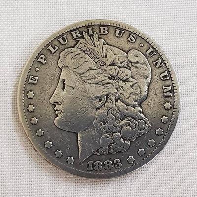 #1883 S Morgan Silver Dollar