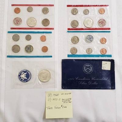 2 US Mint 1968 Proof Sets & a 1971 S Uncirculated ...